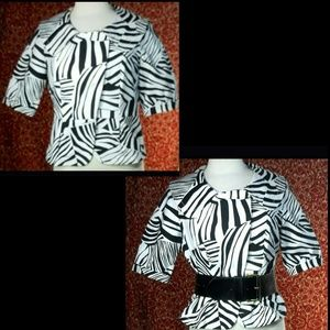 KENNETH COLE REACTION zebra print jacket 10✨
